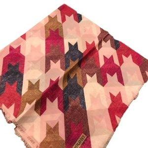 Cotton Pink Multi color Chevron Square Scarf Tiche